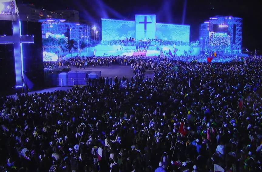 Discurso del Papa Francisco en fiesta de bienvenida JMJ Río2013