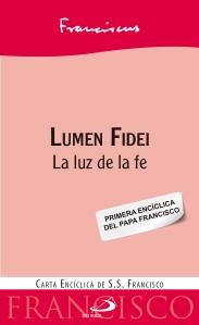 Portada de la versión española de la la Lumen Fidei de la Editorial San Pablo