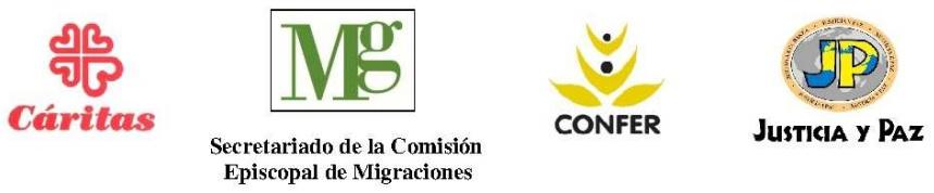Declaración conjunta de Cáritas Española, CONFER, Secretariado de la Comisión Episcopal de Migraciones y Justicia yPaz