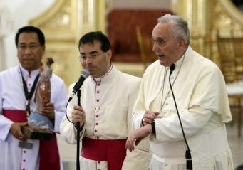 Discurso del #PapaFrancisco en su encuentro con sacerdotes, religiosas, religiosos, seminaristas y familias de lossupervivientes