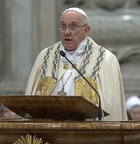 Homilía del #PapaFrancisco en la Celebración de las Vísperas de la Solemnidad de Santa María, Madre de Dios y Te Deum de acción degracias