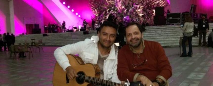 Martín Valverde y Álex Campos cantaron juntos en elVaticano