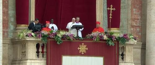 Mensaje 'Urbi et Orbi' del Santo Padre Francisco para la Pascua2015