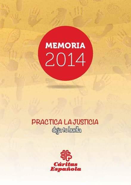 Cáritas Española presenta su Memoria de actividades2014