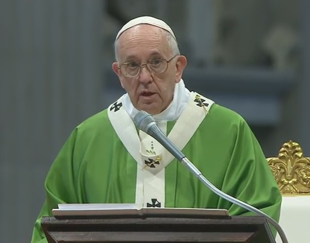Homilía del Santo Padre Francisco en la Santa Misa con motivo de la clausura de la XIV Asamblea General Ordinaria del Sínodo de losObispos