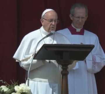 Mensaje 'Urbi et Orbi' del Santo Padre Francisco para la Pascua2016