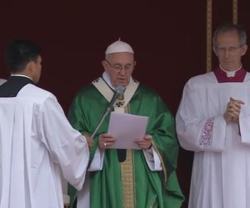 Palabras del Santo Padre Francisco al rezo del Ángelus Domini(29.05.2016)