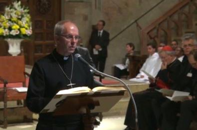 Oración ecuménica por la paz – Meditación de Su Gracia Justin Welby, arzobispoCanterbury