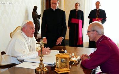 Audiencia del Santo Padre al arzobispo de Canterbury y primado de la IglesiaAnglicana