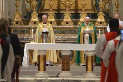 Homilía del Santo Padre en las Vísperas con motivo del 50 aniversario del encuentro entre el Beato Pablo VI y el arzobispo deCanterbury