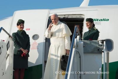 El Papa Francisco comienza su viaje apostólico aSuecia