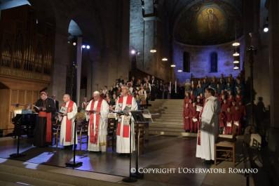 Oración ecuménica común en la Catedral Luterana deLund