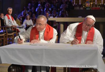 Declaración con ocasión de la Conmemoración conjunta Católico – Luterana de laReforma