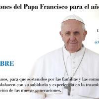 Intenciones Papa Francisco Diciembre 2017
