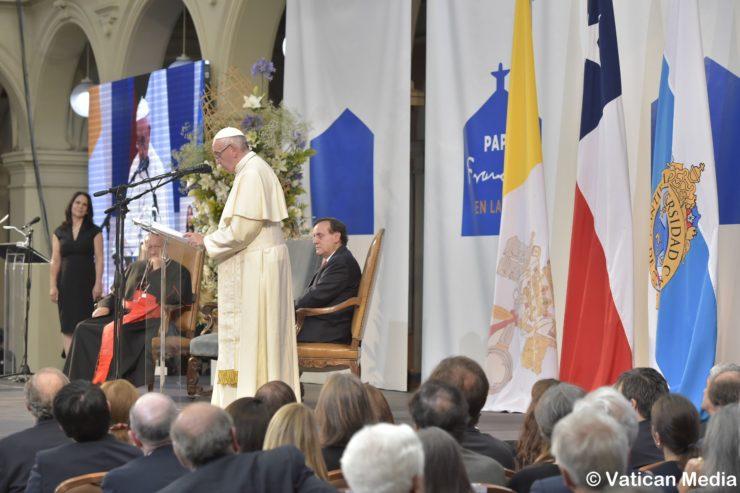 Visita alla Pontificia Universita Cattolica Cile