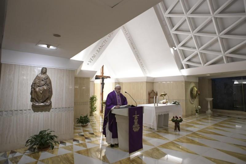 Homilía del Papa Francisco en Santa Marta 04.12.18: tiempo de pacificar el alma, la familia y elmundo