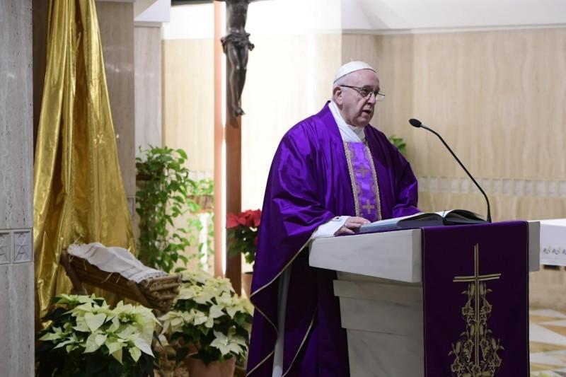 Homilía del Papa Francisco en Santa Marta 18.12.2018: San José, hombre de sueños con los pies en latierra