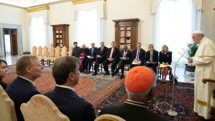 Audiencia del Papa Francisco a los miembros del Consejo para un CapitalismoInclusivo