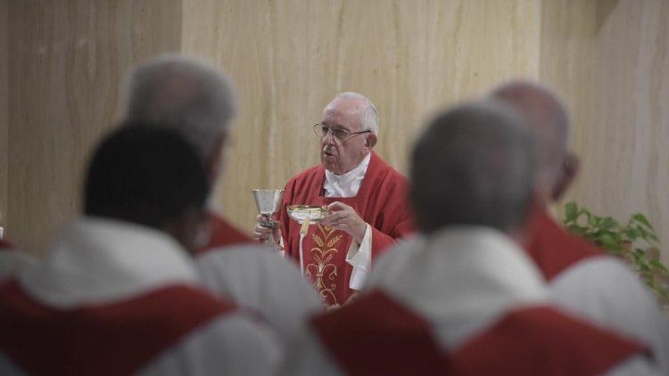 Homilía del Papa Francisco en Santa Marta 12.11.2019: Los sembradores deodio