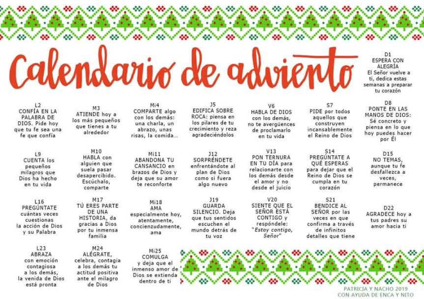 Calendario de Adviento2019