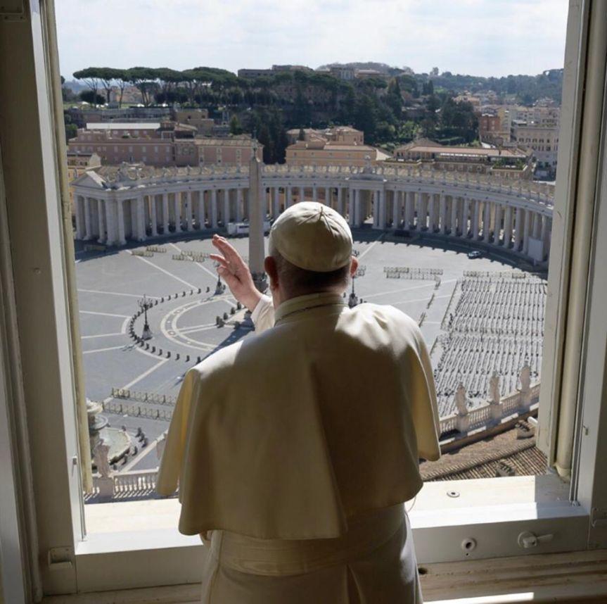 Palabras del Papa Francisco al rezo del Ángelus Domini,15.03.2020