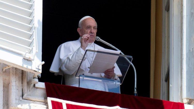 Palabras del Papa Francisco al rezo del Ángelus Domini,01.03.2020