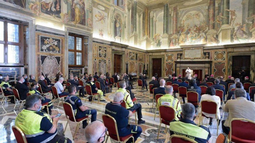Audiencia del Papa Francisco a los médicos, enfermeros y personal sanitario deLombardia