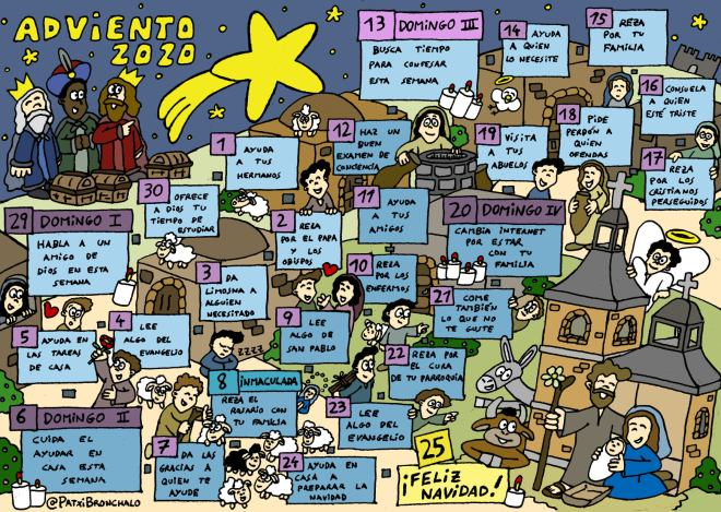 Calendario Adviento 2020 (PatxiBronchalo)