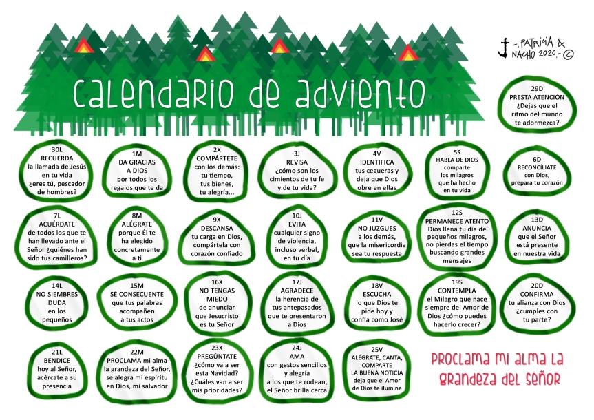 Calendario de Adviento – 2020 (Patricia yNacho)