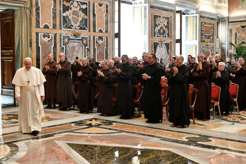 Audiencia del Papa Francisco a los participantes en el Capítulo General de la Orden de los Frailes CarmelitasDescalzos
